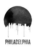 Philadelphia Skyline White Plastic Sign by  NaxArt