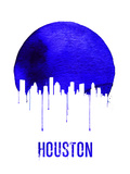 Houston Skyline Blue Plastic Sign by  NaxArt
