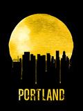 Portland Skyline Yellow Plastic Sign by  NaxArt