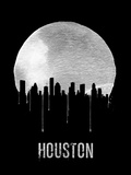 Houston Skyline Black Plastic Sign by  NaxArt