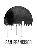 San Francisco Skyline White Plastic Sign by  NaxArt