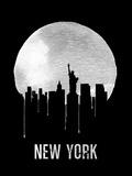 New York Skyline Black Plastic Sign by  NaxArt