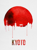 Kyoto Skyline Red Plastic Sign by  NaxArt