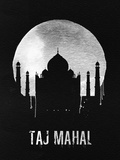 Taj Mahal Landmark Black Plastic Sign by  NaxArt