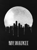 Milwaukee Skyline Black Plastic Sign by  NaxArt