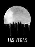 Las Vegas Skyline Black Plastic Sign by  NaxArt