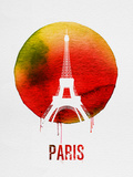 Paris Landmark Red Plastic Sign by  NaxArt