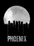 Phoenix Skyline Black Plastic Sign by  NaxArt