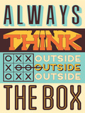 Outside the Box Plastic Sign by  Vintage Vector Studio