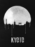 Kyoto Skyline Black Plastic Sign by  NaxArt