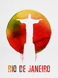 Rio De Janeiro Landmark Red Plastic Sign by  NaxArt