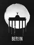 Berlin Landmark Black Plastic Sign by  NaxArt