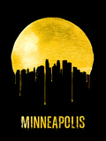 Minneapolis Skyline Yellow Plastic Sign by  NaxArt