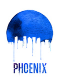 Phoenix Skyline Blue Plastic Sign by  NaxArt