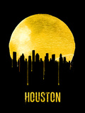 Houston Skyline Yellow Plastic Sign by  NaxArt