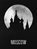 Moscow Landmark Black Plastic Sign by  NaxArt
