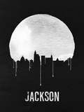Jackson Skyline Black Plastic Sign by  NaxArt
