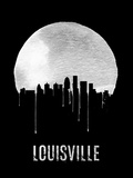 Louisville Skyline Black Plastic Sign by  NaxArt
