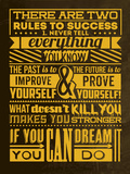 Success Set Yellow Plastic Sign by Lorand Okos