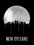 New Orleans Skyline Black Plastic Sign by  NaxArt