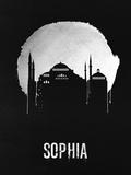 Sophia Landmark Black Plastic Sign by  NaxArt