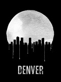 Denver Skyline Black Plastic Sign by  NaxArt