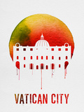 Vatican City Landmark Red Plastic Sign by  NaxArt