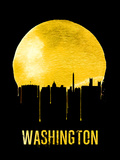Washington Skyline Yellow Plastic Sign by  NaxArt