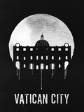 Vatican City Landmark Black Plastic Sign by  NaxArt