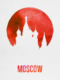 Moscow Landmark Red Plastic Sign by  NaxArt