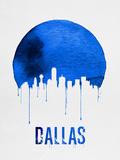 Dallas Skyline Blue Plastic Sign by  NaxArt