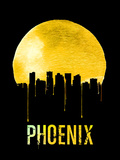 Phoenix Skyline Yellow Plastic Sign by  NaxArt
