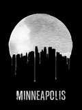 Minneapolis Skyline Black Plastic Sign by  NaxArt