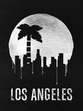 Los Angeles Landmark Black Plastic Sign by  NaxArt