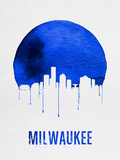 Milwaukee Skyline Blue Plastic Sign by  NaxArt