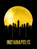 Indianapolis Skyline Yellow Plastic Sign by  NaxArt