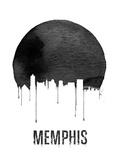 Memphis Skyline White Plastic Sign by  NaxArt