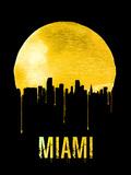 Miami Skyline Yellow Plastic Sign by  NaxArt