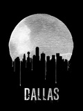 Dallas Skyline Black Plastic Sign by  NaxArt