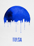 Tulsa Skyline Blue Plastic Sign by  NaxArt