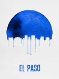 El Paso Skyline Blue Plastic Sign by  NaxArt