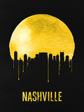 Nashville Skyline Yellow Plastic Sign by  NaxArt
