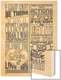Action Set White Wood Print by  Vintage Vector Studio