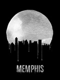 Memphis Skyline Black Plastic Sign by  NaxArt