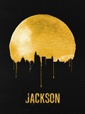 Jackson Skyline Yellow Plastic Sign by  NaxArt