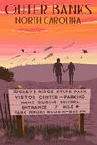 Jockey's Ridge State Park, North Carolina - Welcome Sign Plastic Sign by  Lantern Press