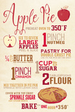 Apple Pie Recipe Plastic Sign by  Lantern Press