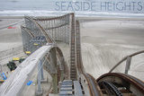 Seaside Heights - Roller Coaster Construction 2 Wall Mural by  Lantern Press