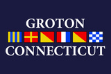 Groton, Connecticut - Nautical Flags Plastic Sign by  Lantern Press