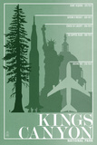 Kings Canyon National Park - Redwood Relative Sizes Plastic Sign by  Lantern Press